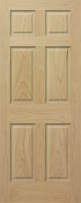 Poplar 6 Panel Raised Traditional Solid Core Stain Grade Interior Doors Slabs