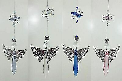 🇦🇺 1x GUARDIAN ANGEL CRYSTAL SUNCATCHER handmade baby gift, rainbow prism