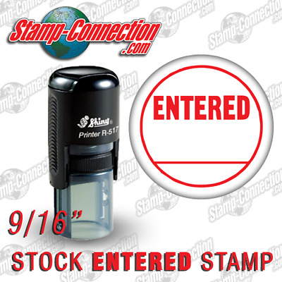 Shiny 517R ENTERED Self-Inking Stamp (RED)