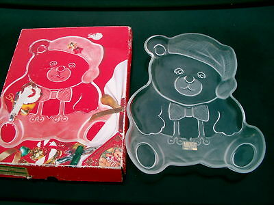 Mikasa Christmas Bear Cookie / Sweet Dish New In Box
