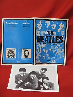 The Beatles Capitol Records & Tapes PROMO Catalog Photo