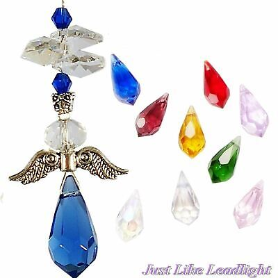 Crystal mini guardian angel #3 suncatcher- prism gift pendant car mirror hanging