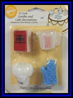 NEW! Wilton **#1 COOK SHAPED CANDLES & DECORATIONS**NIP