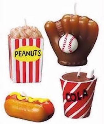Take Me Out To The Ball Game Candles from Wilton 8930 - NEW