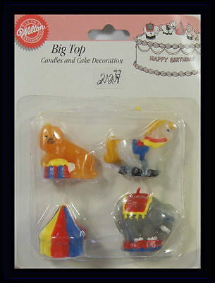 NEW! Wilton*BIG TOP CIRCUS CANDLES AND DECORATIONS*NIP