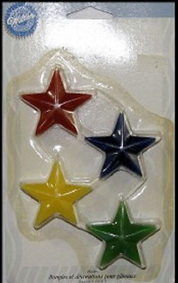 Primary Stars Candles and Decorations from Wilton - NEW