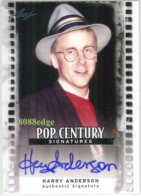 """2011 Leaf Pop Century Autograph Auto: Harry Anderson """"night Court/cheers"""""""
