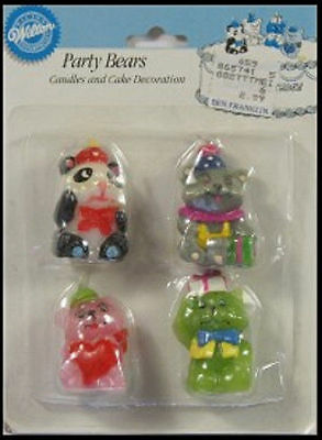 Party Bears Candles and Decorations from Wilton - NEW