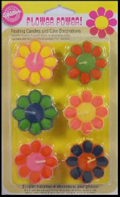 Flower Power Candles and Decorations from Wilton - NEW
