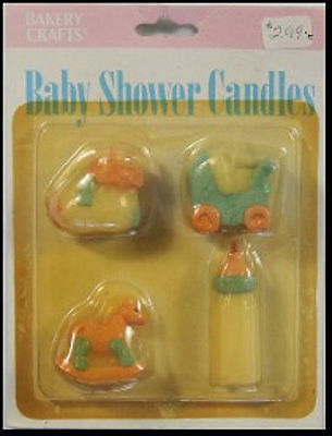 Bakery Craft Baby Shower Candles 4ct - NEW