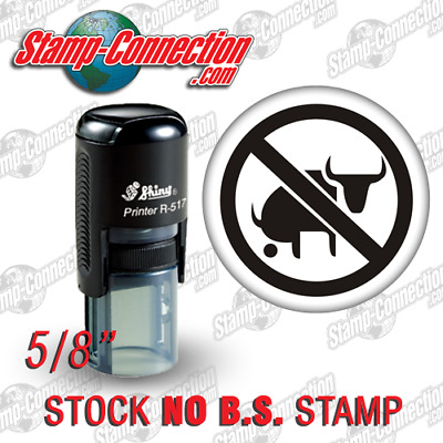 "Shiny 517R Self-Inking 5/8"" Round NO BS Stamp"