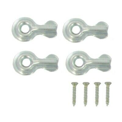 Stanley National N106-906 Zinc Plated Steel Half Turn Button 4 Pack