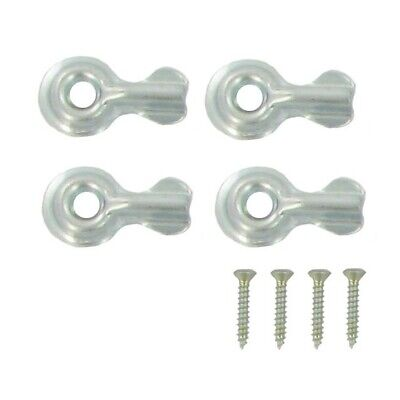 Zinc Half Turn Button 4 Pack