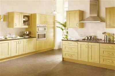 New Complete Fitted Budget Kitchen - Natural Oak Shaker