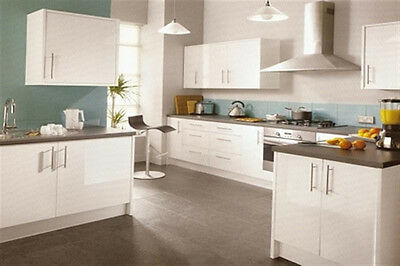 New - Complete Fitted Budget Kitchen - High Gloss White