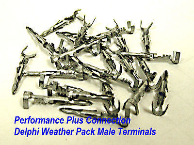 GM 12124587 Weather Pack Male Pin 12-10 AWG 25 pack Made In USA
