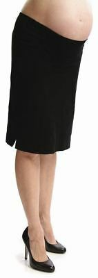 New Japanese Weekend Maternity Smooth Black Corduroy Office Pencil Skirt Suiting