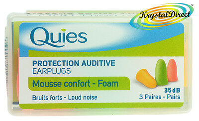 Quies Soft FOAM Ear Plugs Earplugs Noise Protection