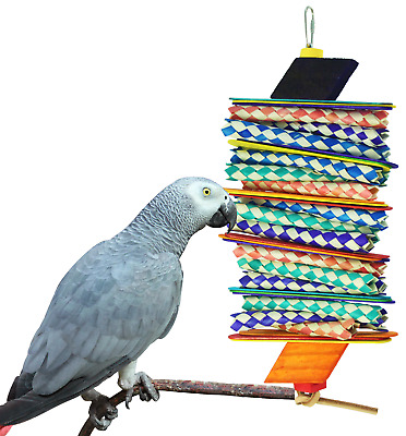 1078 BIG STEP SHRED BIRD TOY parrot cage toys cages african grey amazon conure