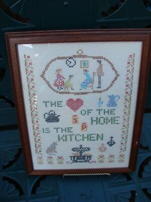 VTGE THE HEART HOME is the KITCHEN EMBROIDERY SAMPLER