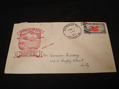1941 Savannah Ga Air Base Dedication Cover