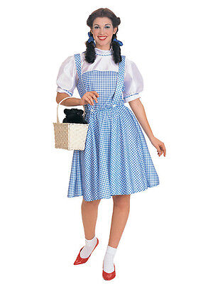 Dorothy Gingham Dress Country Girl Blue White Wizard of Oz Sexy Adult Costume