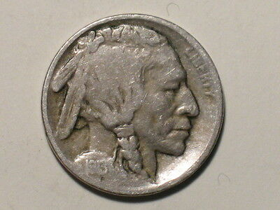 1913 TYPE 1 BUFFALO NICKEL - INDIAN HEAD BISON