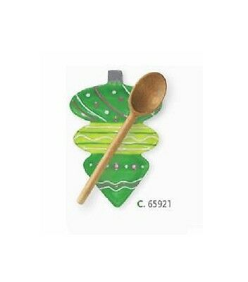 Christmas Ornament  Finial Lime Green Spoon Rest