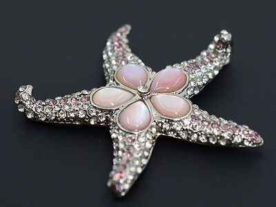 G0200 Pink Mother of Pearl MOP shell starfish pendant