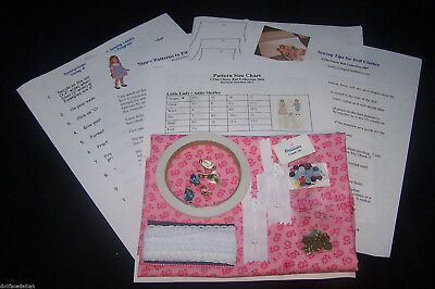 NEW!   Doll Clothing Sewing Kit  New & Revised - Limited Quantities