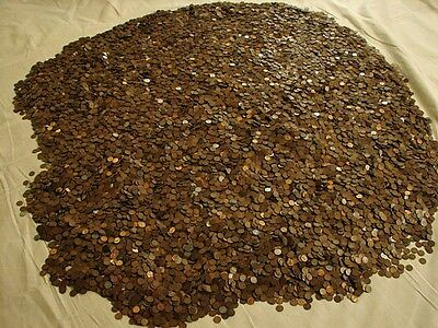 INDIAN HEAD LINCOLN WHEAT PENNY ROLL From Lot GUARANTEED 1800'S