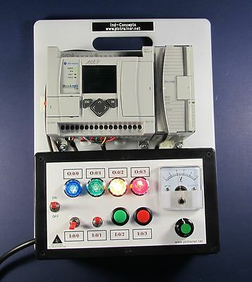 Allen Bradley PLC training ANALOG 1100 Trainer 1763-L16BWA with Lessons