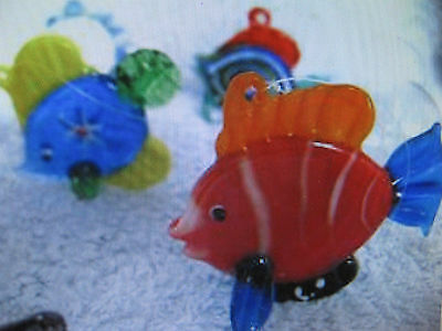 4 x GLASS TROPICAL FISH BUBBLE FLOAT AQUARIUM TANK 1284