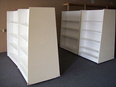 Retail Store Rolling Shelves-Lot of 4 Double-Sided Nice