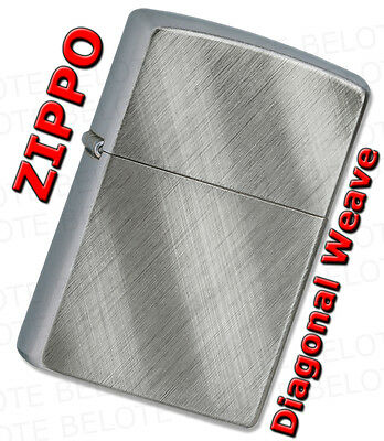 Zippo Diagonal Weave Brushed Windproof Lighter 28182 Lifetime Guarantee NEW L@@K