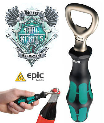 WERA Kratform Screwdriver Classic Style Drink/Beer Bottle Opener Handle, 030005