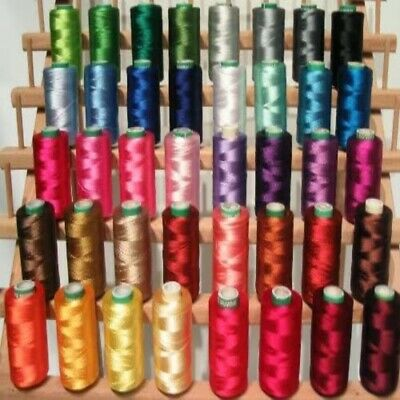 New 40 Large Rayon Machine Embroidery Threads Christmas