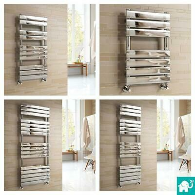 Flat Panel Chrome Heated Bathroom Towel Rail Rad Radiators