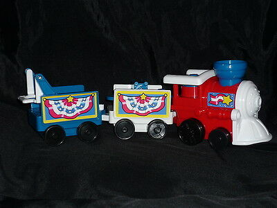 Fisher Price Little People July 4th Train Sounds New