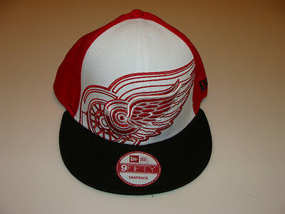 c4d12efc08c New Era Detroit Red Wings Little Pop Snapback Cap Hat NHL Hockey Adjustable  OSFM