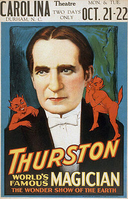 M2 Vintage Thurston Magic Out Of The Hat Master Magician Poster Re-Print A4
