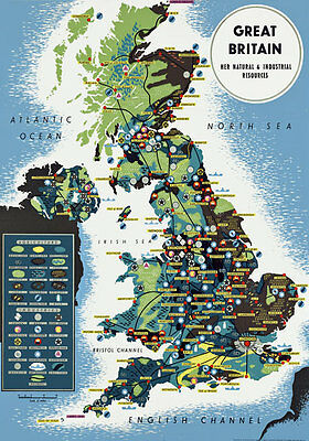 TR41 Vintage British UK Map Travel Poster A1 A2 A3