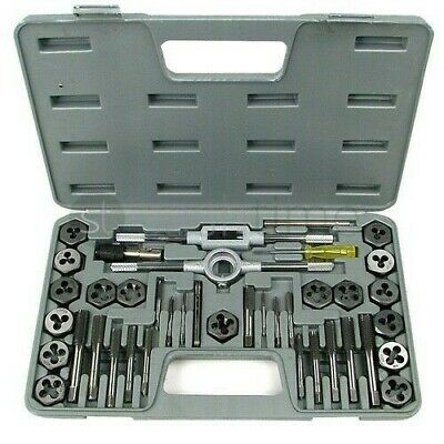 New 40Pc Pro Tool Cutting Screw Thread Tap And Die Set With Storage Case