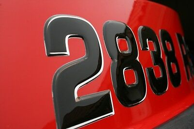 Boat Letters Registration Domed Numbers Stickers 3D Wake Series