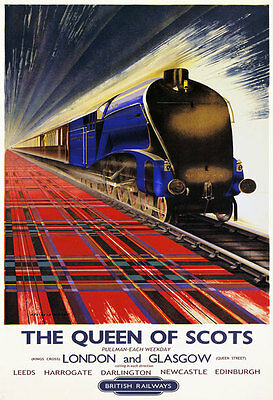 TR92 British Railways Queen Of Scots Leeds Harrogate Railway Poster A1 A2 A3