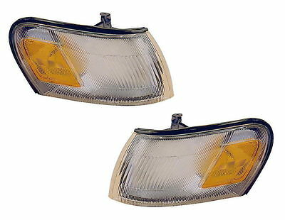 New Pair (Left & Right) Corner Turn Signal Lamps Fits 1993-1997 Toyota Corolla