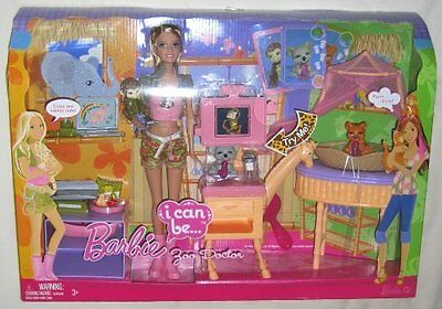 BARBIE I CAN BE ZOO DOCTOR W/ LOADS OF ACCESSORIES DOLL INCLUDED p9225 *NEW*