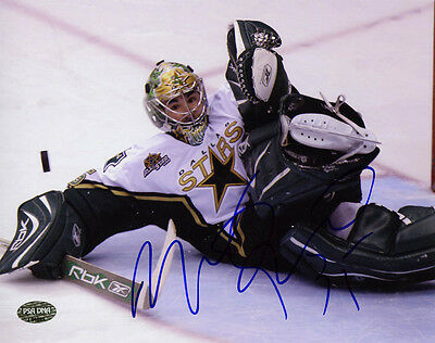 Marty Turco SIGNED 8x10 Photo Dallas Stars PSA/DNA AUTOGRAPHED