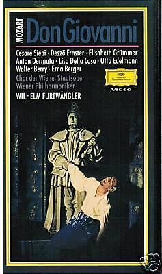Vhs Mozart Don Giovanni Siepi Furtwängler Ernster Berry