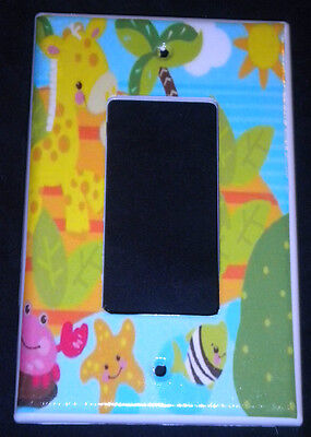 Fisher Price PRECIOUS PLANET rocker LIGHT SWITCH plate / GFI outlet Giraffe